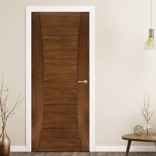 Image: Pamplona Prefinished Walnut Door from Deanta UK