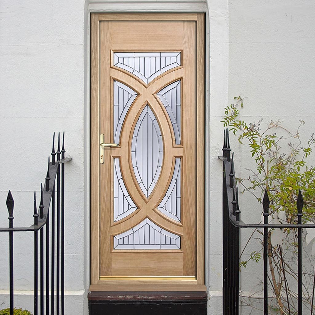 Majestic External Oak Door and Frame Set - Zinc Double Glazing, From LPD Joinery