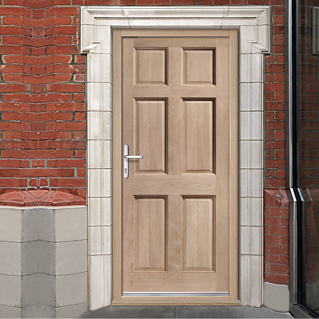 Colonial Hardwood 6 Panel External Door and Frame Set with Fittings