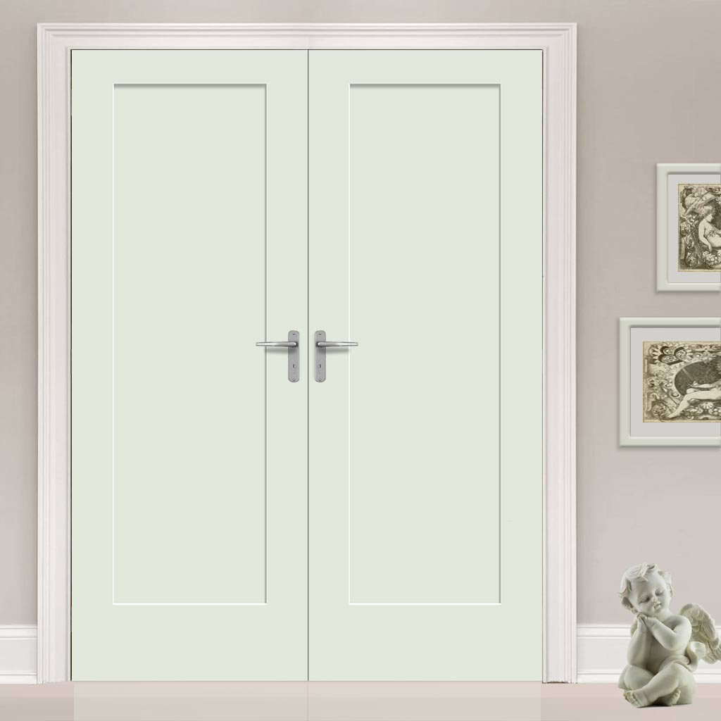 Prefinished Bespoke Pattern 10 Style Panel Door Pair - Choose Your Colour