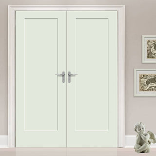 Image: Prefinished Pattern 10 Style Panel Door Pair - Choose Your Colour