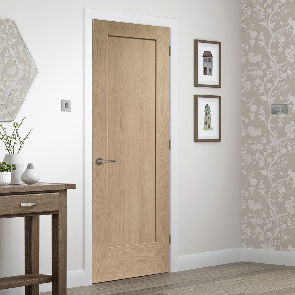 Bespoke Pattern 10 Oak 1 Panel Door - Prefinished