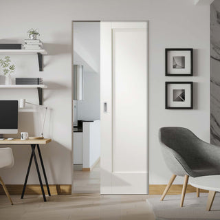 Image: Pattern 10 Style Panel Absolute Evokit Pocket Door - Primed