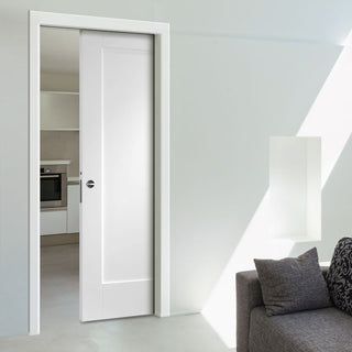 Image: Pattern 10 Panel Evokit Pocket Fire Door - 1/2 Hour Fire Rated - Primed