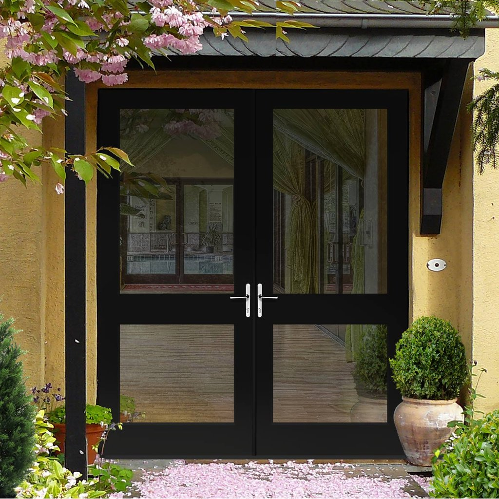 Made to Order External Pattern 2XGG Door Pair with Toughened Double Glazing