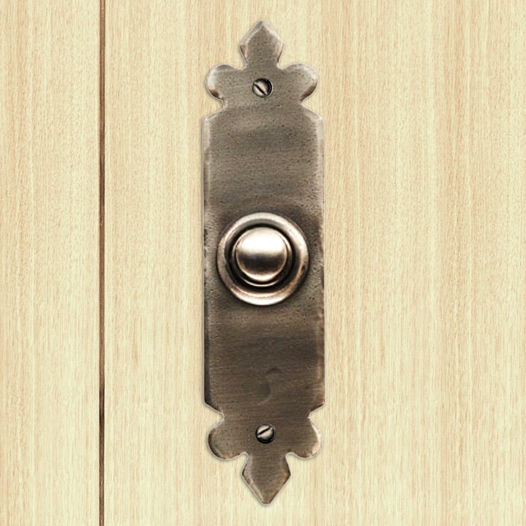 Ludlow Pewter PE5634 Antique Tudor Door Bell, 118x30mm
