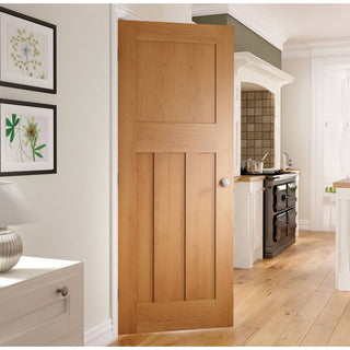 Image: Cambridge 1930 modern style period oak interior door