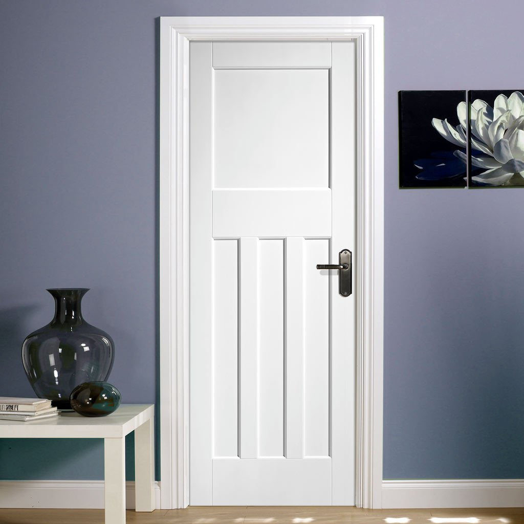 DX60 interior period style door in white