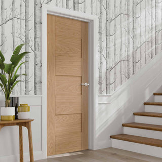 Image: Fire Rated Perugia Oak Door - 1/2 Hour Rated - Prefinished