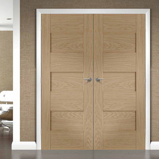 Image: Perugia Oak Fire Door Pair - 1/2 Hour Fire Rated - Prefinished