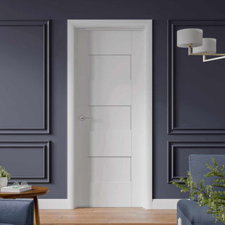 Image: Fire Proof Perugia White Fire Door - 1/2 Hour Fire Rated - Prefinished
