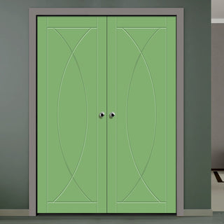 Image: Prefinished Pesaro Flush Door Pair - Choose Your Colour
