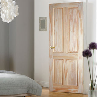 Image: 4 panel clear pine door