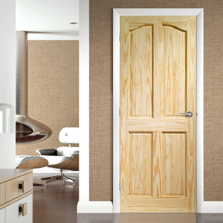 Image: Rio 4 Panel Clear Pine Door