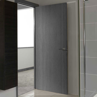 Image: J B Kind Painted Pintado Slate Grey Flush Door - Prefinished