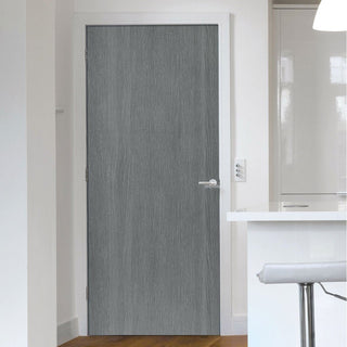 Image: J B Kind Painted Pintado Slate Grey Flush Fire Door - 1/2 Hour Fire Rated - Prefinished