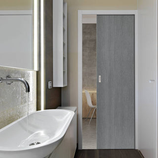 Image: Pintado Slate Grey Single Evokit Pocket Door - Prefinished