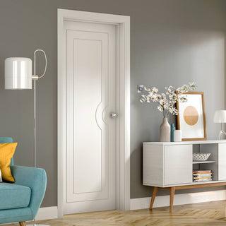 Image: Potenza White Flush Door - Prefinished - From Xl Joinery