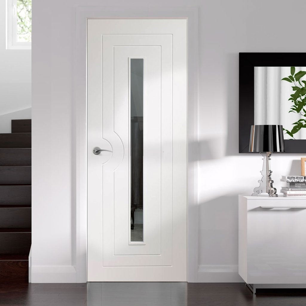 Bespoke Potenza White Glazed Door - Prefinished - From Xl Joinery