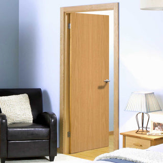 Image: Fire Door, Oak Veneer Blank - 1/2 Hour Fire Rated - Prefinished