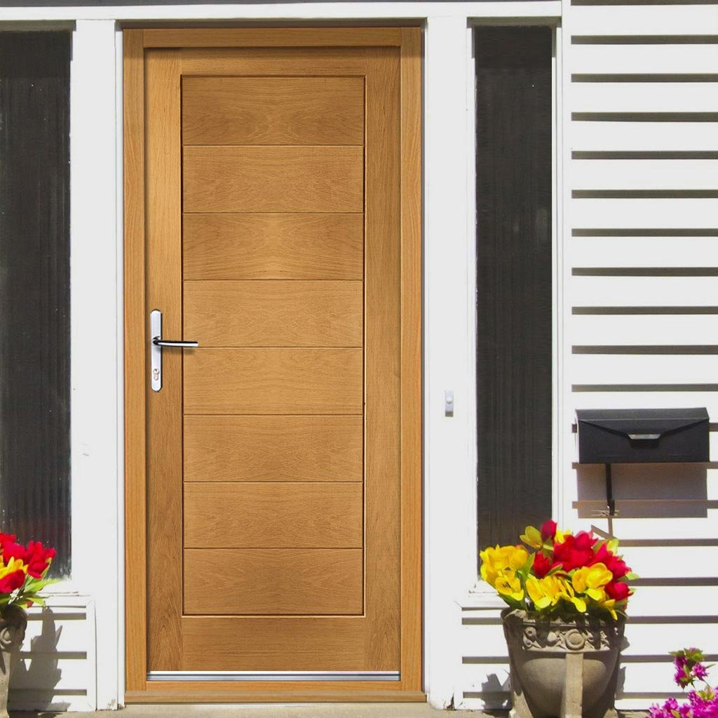 Prefinished Modena Oak Door and Frame Set