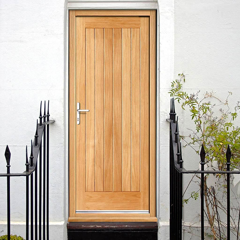 Prefinished Suffolk Oak Door and Frame Set