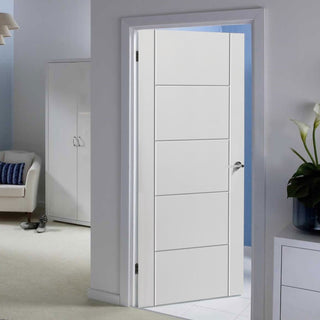 Image: Vancouver Flush Fire Door - 30 Minute Fire Rated - White Primed