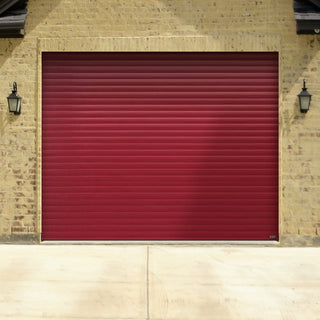 Image: Gliderol Electric Insulated Roller Garage Door from 1900 to 2134mm Wide - Purple Red