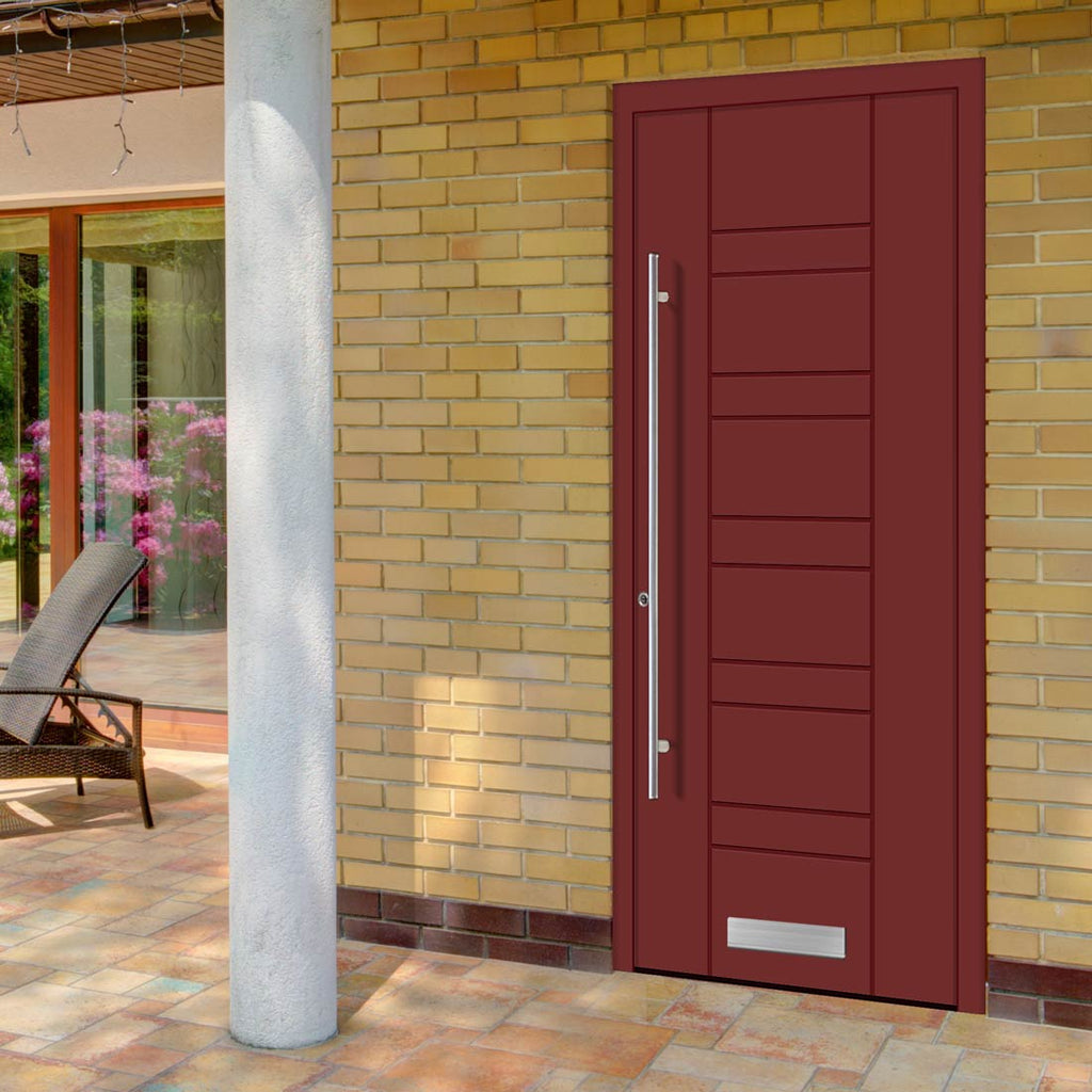 External Spitfire Aluminium S-200 Door - 1715 CNC Grooves Solid - 7 Colour Options