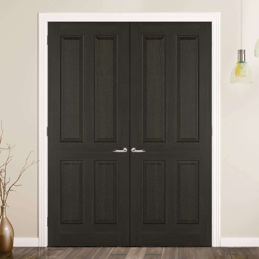 Regency 4 Panel Smoked Oak Door - Prefinished
