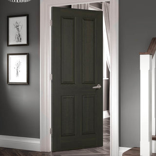 Image: Regency 4 Panel Smoked Oak Door - Prefinished