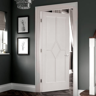Image: Reims Diamond 5 Panel Door - White Primed
