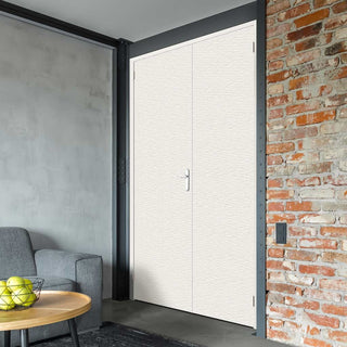 Image: J B Kind Ripple Textured Flush Door Pair