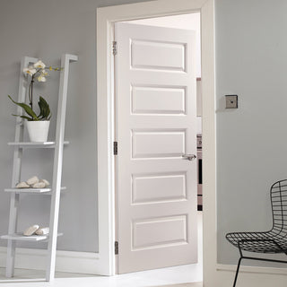 Image: JELD-WEN Internal Rockport Smooth Door - White - Moulded Range
