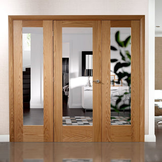 Image: Easi-Frame Oak Door Set - GOSHAP10-COEOP23 - 2005mm Height - 2214mm Wide.