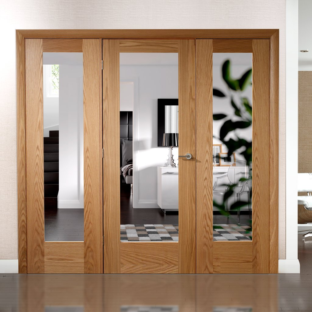 Easi-Frame Oak Door Set - GOSHAP10-COEOP22 - 2005mm Height - 2062mm Wide.