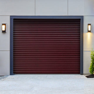 Image: Gliderol Electric Insulated Roller Garage Door from 1900 to 2134mm Wide - Rosewood