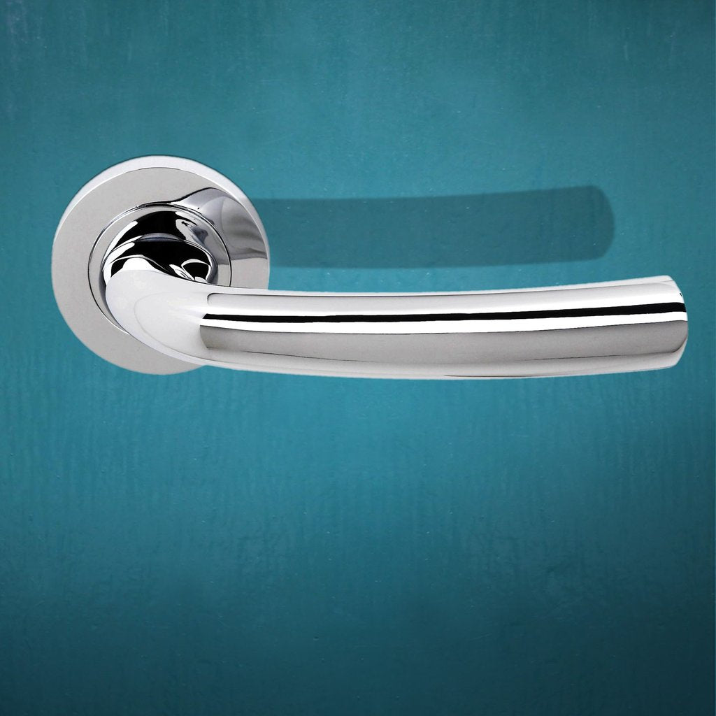 Nevada Status Lever on Round Rose - Polished Chrome
