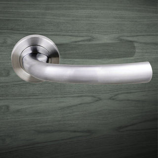 Image: Nevada Status Lever on Round Rose - Satin Chrome