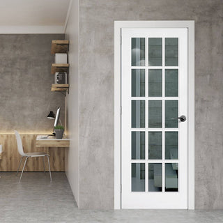 Image: SA 15 Pane Door - Clear Glass - White Primed