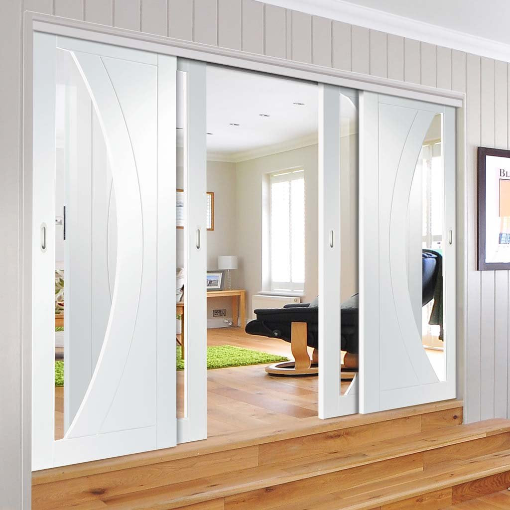 Four Sliding Doors And Frame Kit Salerno Door Clear