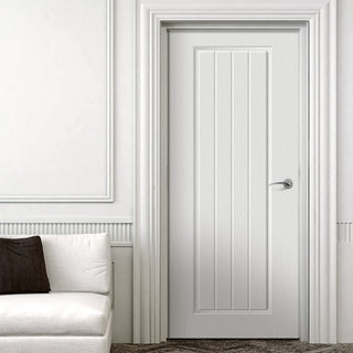 Image: White PVC samantha internal panel door