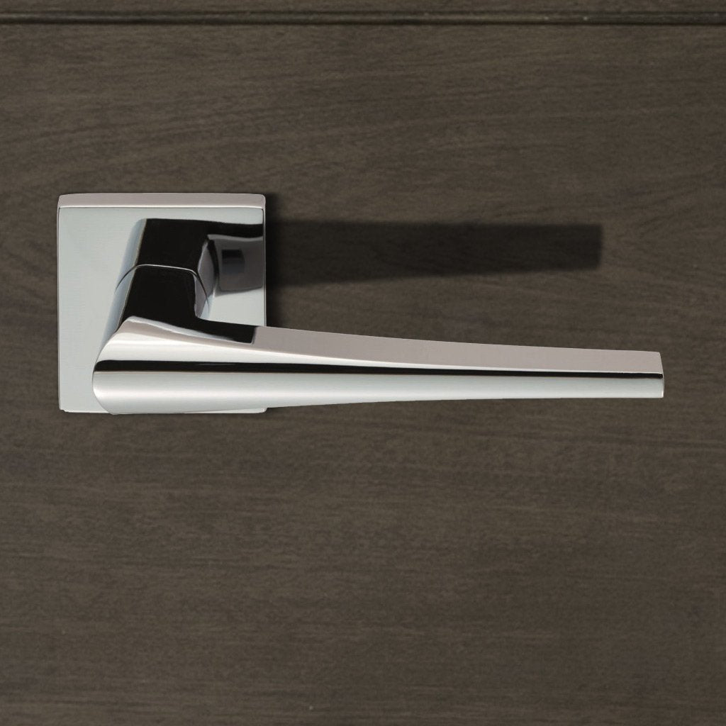 European CEB020Q Sea Lever Latch Handles on Square Rose - 2 Finishes
