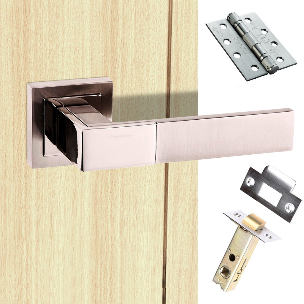 Senza Pari Casalli Fire Lever on Square Rose - Satin Nickel Handle Pack