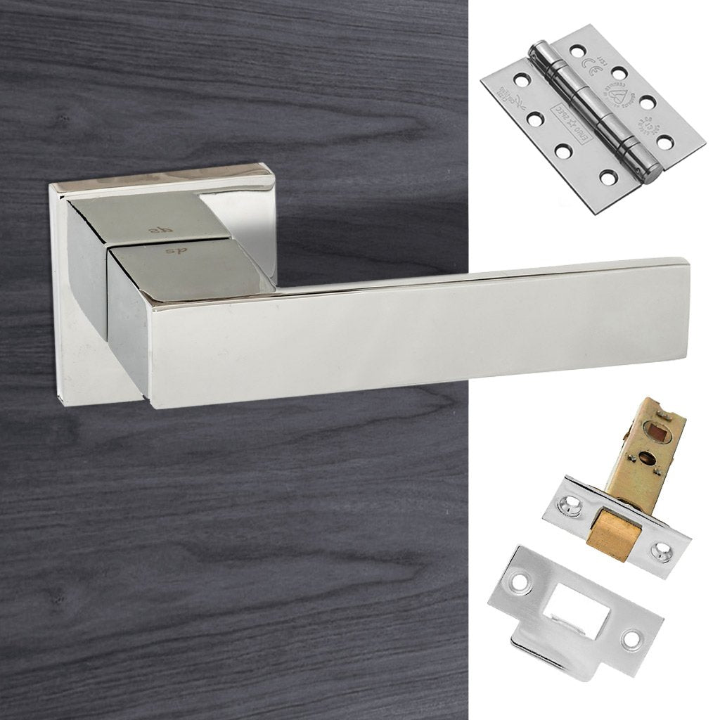 Senza Pari Panetti Fire Lever on Flush Rose - Polished Chrome Handle Pack