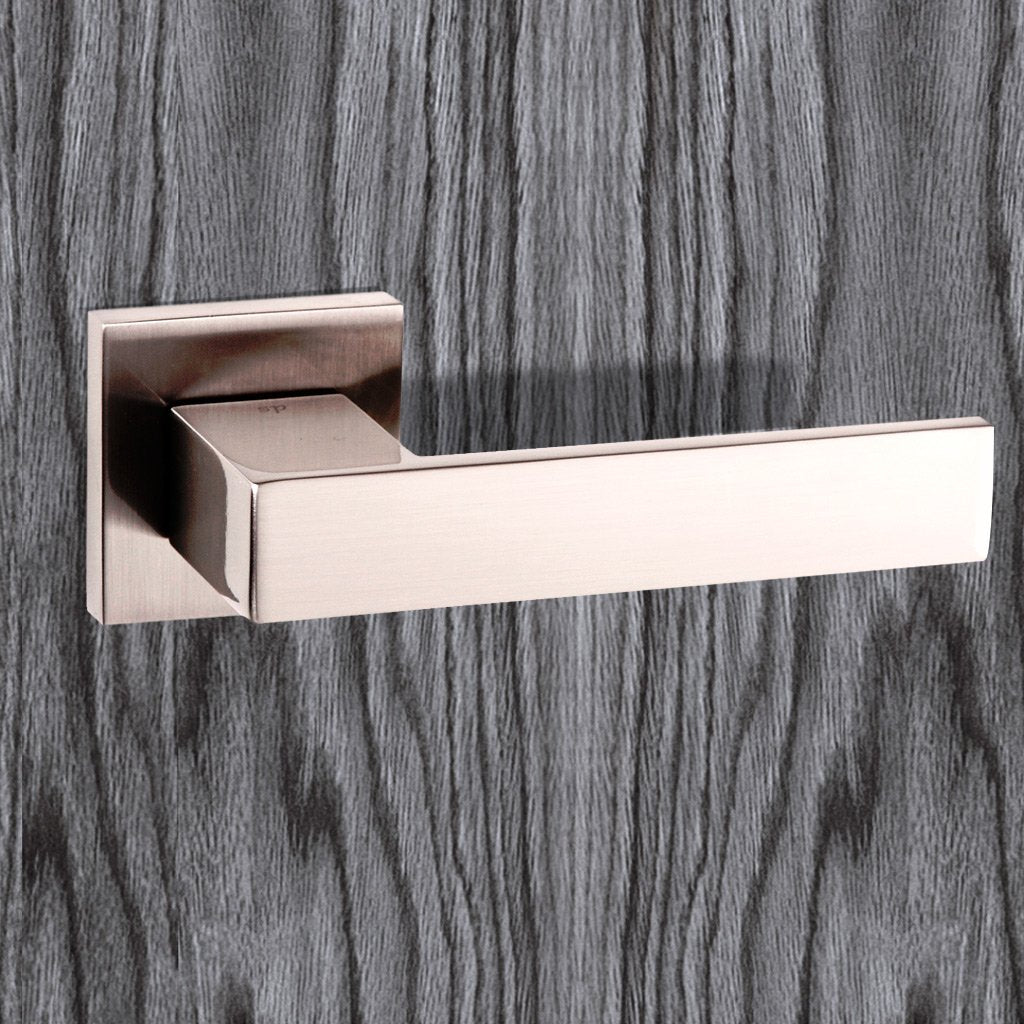 Senza Pari Panetti Lever on Flush Rose - Satin Nickel