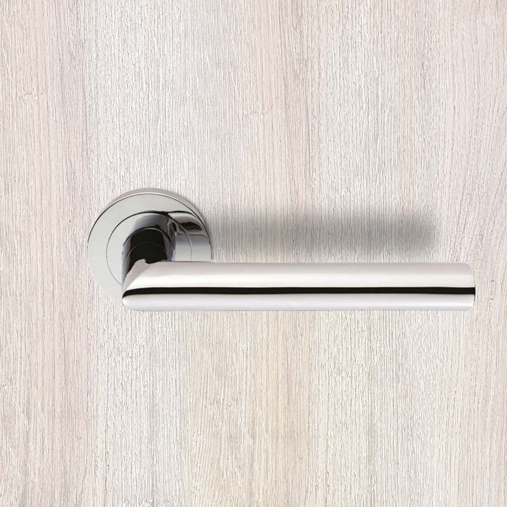 Serozzetta Morado SZS060 Lever Latch Handles on Round Rose - 2 Finishes
