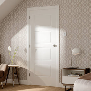 Image: Severo White 4 Panel Door - Prefinished