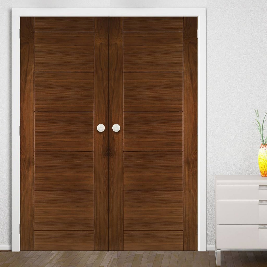 Seville Walnut Prefinished Door Pair