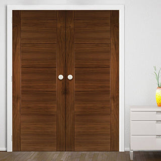 Image: Seville Walnut Prefinished Door Pair
